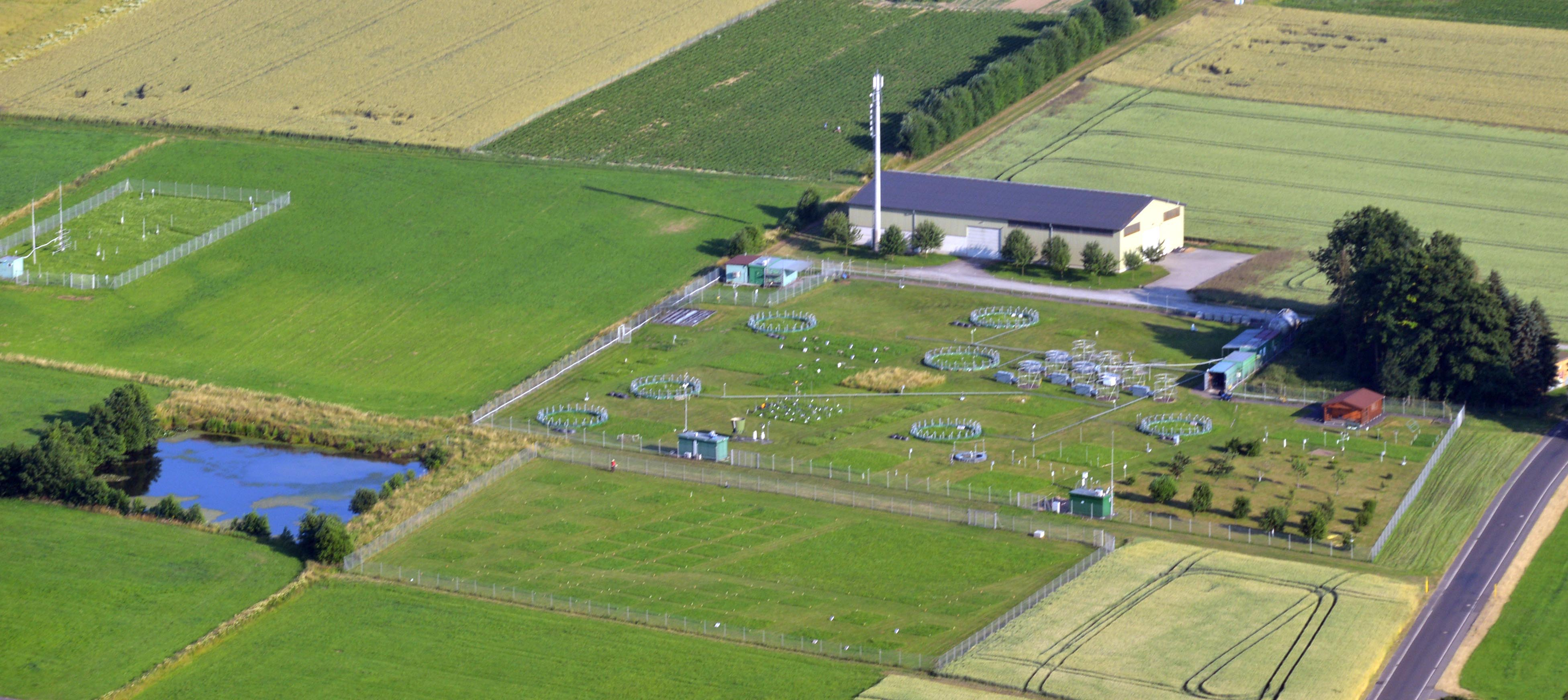 Aerial photograph of the GiFACE facility (copyright C. Wißmer 2013)