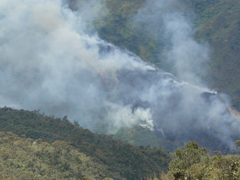 Fire close to the research station on 22. September (the building in the image belongs to a local resident and is not associated to the research station).